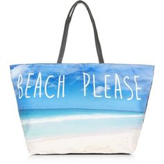 Blue Beach Please Shopper Bag ($13) ❤ liked on Polyvore