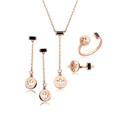 14K GOLD JEWELRY SET (58.5% GOLD) LPJ6558 SET LA LUCE - PRIMARY JEWELRY