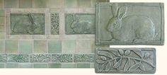 Bathroom and kitchen backsplash tile installation, handmade decorative art tile installation