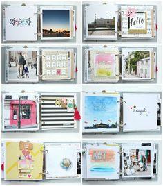 """Mini album """"Paris"""" Details 3 / Steffi Ried #scrapbooking #minialbum #cratepaper #maggieholmes"""