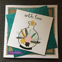 6x6 card made using Crafter's Companion Crafter's Inspiration Issue 13 Free Gifts – Designed by Pauline Orr #crafterscompanion