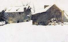snow watercolor paintings | Artist Andrew Wyeth in Winter | Central Library Arts Division ...