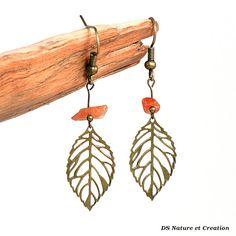 Ethnic earrings sunstone jewelry dangle leaf by DSNatureetCreation https://www.etsy.com/listing/242084732/ethnic-earrings-sunstone-jewelry-dangle