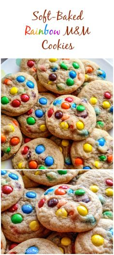 Rainbow M&M Cookies are a cookie jar must-make. Will absolutely be a new family favorite!