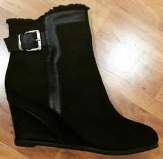 Wedge boot Flip Flops, Wedges, Sandals, Lady, Boots, Fashion, Crotch Boots, Moda, Shoes Sandals