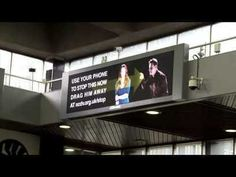 'Abuse' awareness the Augmented Reality, Billboard way?! 'Drag Him Away' Campaign ht @filmcement