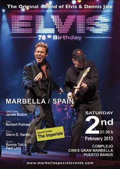 The Elvis Experience live at Puerto Banus, Marbella February 2