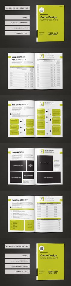 49 Best Game Design Document images Game design document