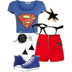 Superman inspired outfit, Pollyvore