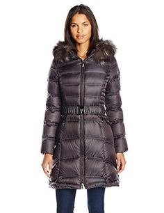 Dawn Levy Cat II Down Coat with Fur Hood, Storm, Small >>> Want additional info? Click on the image.