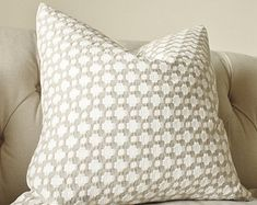 Schumacher - Betwixt - Stone Gray Pillow - Nuetral Grey Designer Pillow - Greige White - Throw Pillow - Designer Pillow