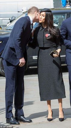 The father-of-three has returned to royal duties for the first time since his wife the Duchess of Cambridge gave birth to their third child. Black hat with dragon fly, black suit, poppy pin April 2018 Princess Meghan, Royal Princess, Princess Charlotte, Duke And Duchess, Duchess Of Cambridge, Prinz Harry Meghan Markle, Markle Prince Harry, Prince George Alexander Louis, Prince Harry And Megan