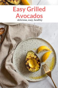 The most delicious grilled avocados. Great for salads, tacos, salsa, side dishes, ceviche, and more! Easy and healthy, this recipe from Slender Kitchen is MyWW SmartPoints compliant and is gluten free, low carb, paleo, vegan, vegetarian and Whole30. #sidedish #kidfriendly #quickandeasy Healthy Eating Recipes, Healthy Snacks, Vegetarian Recipes, Tacos And Salsa, Grilled Cabbage, Grilled Avocado, Slender Kitchen, Pinterest Recipes, Pinterest Food
