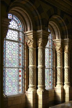 Infinite distractions capture my attention and imagination – men, art, architecture, history, travel. Stained Glass Church, Stained Glass Art, Stained Glass Windows, Leaded Glass, Beveled Glass, Mosaic Glass, Castle Window, Wine Bottle Wall, Wine Glass