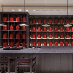 Wang De Chuan tea shop- one of the best tea shops in the world (No. Section Zhongshan N Rd, Zhongshan District, Taipei City, Taiwan Chinese Tea Room, Chinese Black Tea, Chinese Style, Chinese Restaurant, Cafe Restaurant, Restaurant Design, Hotpot Restaurant, Restaurant Interiors, Tea Display
