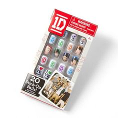 One Direction Stick-On Nails-Claire's. One Direction is intense.