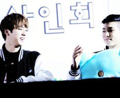 BTS, Jin & Namjoon playing rock, paper, scissors, and pinky.... hahaha