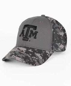 c446e0467efc9 Texas A M Aggies Structured Twill Digi Camo Black Grey Cap