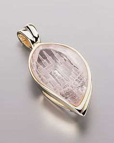 Clip-Anhänger mit Rosenquarz von Sogni d´oro #schmuck #jewelry #Edelsteine…
