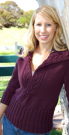 Knit from the top down, this raglan can be tried on as you make it to achieve a perfect fit.