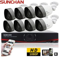 8 CH 1080P HD Outdoor Security Camera System Night Vision HDMI DVR Home CCTV Kit…