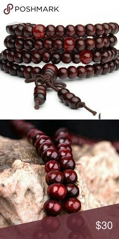 Good Luck Bracelet Good luck bracelet has 108 6mm imitation rosewood beads on a single strand. Sting is elastic and can be worn around wrist, neck or ankle! Jewelry Bracelets