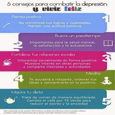 Consejos para combatir la depresión y vivir feliz