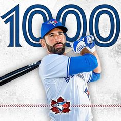 Congratulations to Jose Bautista for getting his 1000th hit with the #BlueJays (4/30/17) #LetsRise