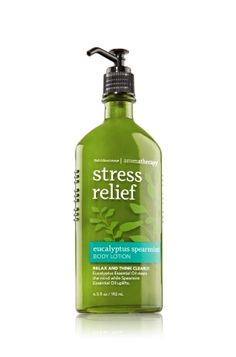 Bath and Body Works Eucalyptus Spearmint Body Lotion. This stuff is nice! I like to actually put a little on my hands before going to bed, then take a good whiff of it. I love the smell!