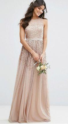 Amelia Rose Neutral Sequin Gown   ASOS   affiliate
