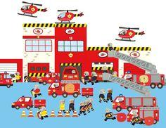 Je construits, je joue avec les gomm : caserne des pompiers - Dès 3 ans: Amazon.fr: Mélusine Allirol: Livres