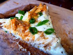 Buffalo Chicken Pizza - just like buffalo chicken dip but a little healthier!