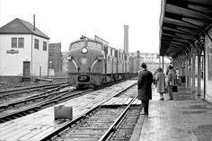 Pennsylvania Railroad passenger train arrives at Englewood Union Station on Chicago's South Side, October 22, 1965.