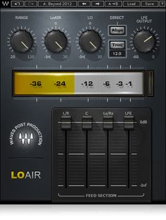 With adjustable frequency and low-pass filter controls to shape your ultra low-end, LoAir subharmonic plugin can process polyphonic content and create LFE tracks from stereo or 5.0 sources.