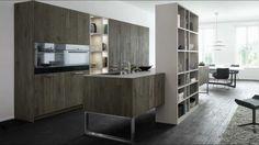 grey hardwood floors modern home flooring contemporary kitchen design Kitchen Cabinet Design, Kitchen Cabinetry, Interior Design Kitchen, Modern Cabinets, Küchen Design, Floor Design, Home Design, Design Ideas, Design Trends