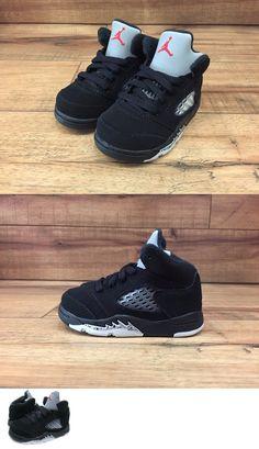 954a253ad21146 Infant Shoes  Nike Air Jordan Retro 5 V Og Toddler Sz 5C Black Silver Red