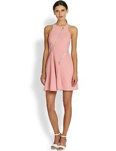 REBECCA MINKOFF Glamrock Zip Crepe Dress