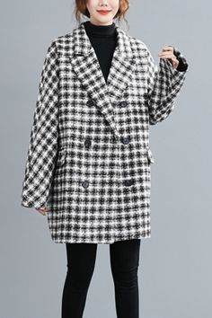 Mid Length, Coats For Women, Plaid, Fashion, Girls Coats, Chess, Moda, Scotch, Fashion Styles