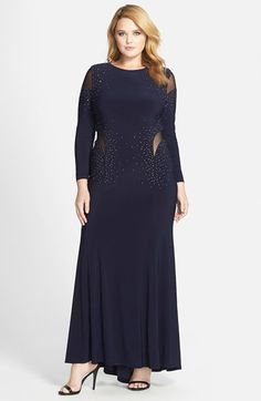 Xscape Embellished Illusion Cutout Gown (Plus Size) available at #Nordstrom