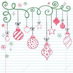 Sketchy Doodle Christmas Ornament - simple doodles to add to those special xmas cards.Hand-Drawn Sketchy Doodle Christmas Ornament - simple doodles to add to those special xmas cards. Christmas Doodles, Christmas Art, Christmas Tree Ornaments, Christmas Decorations, Christmas Journal, Simple Christmas, Christmas Lights Drawing, Easy Christmas Drawings, Christmas Landscape