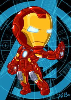 Avengers Iron Man Art Card by *kevinbolk on deviantART