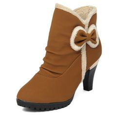 Bow Accent Ankle Boots from #YesStyle <3 yeswalker YesStyle.com