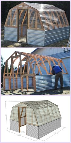 Greenhouse plans that will give you everything you need to build a greenhouse in your backyard. Greenhouse Panels, Diy Greenhouse Plans, Build A Greenhouse, Greenhouse Growing, Greenhouse Gardening, Greenhouse Wedding, Cheap Greenhouse, Porch Greenhouse, Greenhouse Staging