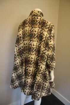 ... - Dublin - 1960's plaid boucle wool coat with a great swing cut  Undercut Boucle