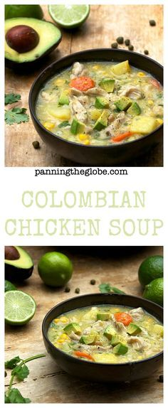 Ajiaco: Colombian Chicken Soup - no cream -  it's thickened with corn and potatoes #GlutenFree #soup
