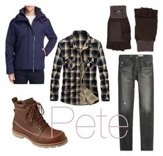 """""""Pete - Almost, Maine"""" by rfarley708 on Polyvore featuring Superdry, AG Adriano Goldschmied, L.L.Bean, UGG, men's fashion and menswear"""