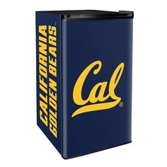 Creating the ultimate sports-themed man cave or game room comes down to the accessories it holds. The perfect sofa or recliner plus a fridge stocked with all your favorite snacks and beverages. The Cal Berkeley Golden Bears mini fridge puts some. Mini Fridge, Refrigerator, Can Dispenser, California Golden Bears, Sports Merchandise, Sliding Shelves, Gifts For Sports Fans, Cubic Foot, Perfect Game