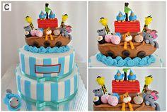 NOAH´S ARK CAKE / NOAH´S ARK BABY SHOWER CAKE / PASTEL DEL ARCA DE NOE / PASTEL ARCA DE NOE PARA BABY SHOWER