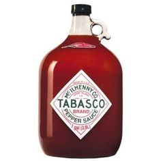 TABASCO brand Pepper Sauce - Original Red Gallon #spicy #hotsauce #tabasco         Made with three natural ingredients such as fully aged red peppers, Avery island salt and distilled high grain vinegar      Smoother, more mellow, flavor while maintaining that distinctive tabasco flavor      Contains healthy amount of garlic to provide some added flavor