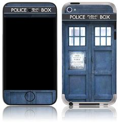 Apple iPod Touch 4th 5th Gen Skin Cover - Tardis Doctor Who Police Call Box \\